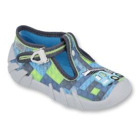 Încălțăminte pentru copii Befado 110P368 albastru gri multicolor verde 1