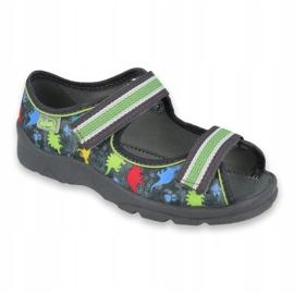 Pantofi pentru copii Befado 969X140 gri multicolor verde 1