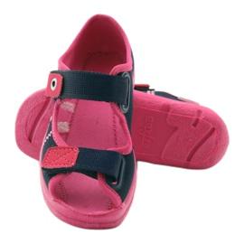 Încălțăminte pentru copii Befado 969Y105 albastru marin roz 4