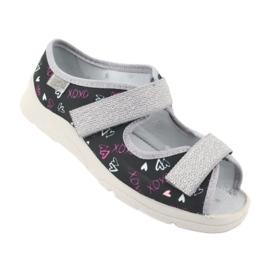 Încălțăminte pentru copii Befado 969Y144 negru roz gri multicolor 2