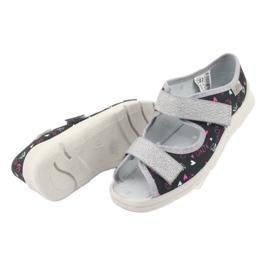 Încălțăminte pentru copii Befado 969Y144 negru roz gri 5