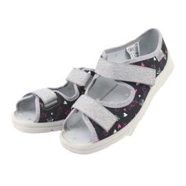 Încălțăminte pentru copii Befado 969Y144 negru roz gri 3
