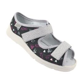 Încălțăminte pentru copii Befado 969Y144 negru roz gri 1