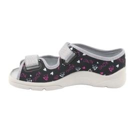 Încălțăminte pentru copii Befado 969Y144 negru roz gri 2