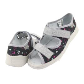 Încălțăminte pentru copii Befado 969Y144 negru roz gri 4