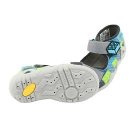Pantofi pentru copii Befado galbeni 250P093 albastru gri multicolor 6