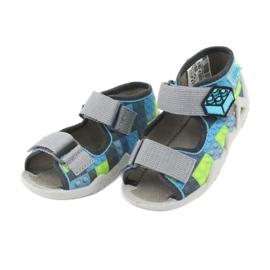 Pantofi pentru copii Befado galbeni 250P093 albastru gri multicolor 4
