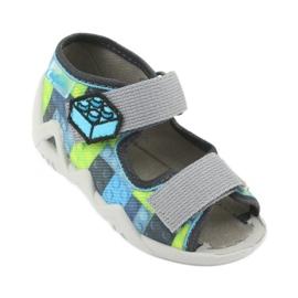 Pantofi pentru copii Befado galbeni 250P093 albastru gri multicolor 2