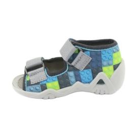 Pantofi pentru copii Befado galbeni 250P093 albastru gri multicolor 3