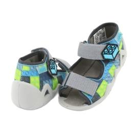 Pantofi pentru copii Befado galbeni 250P093 albastru gri multicolor 5