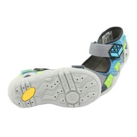 Sandale pentru copii Befado 250P093 albastru gri verde 5