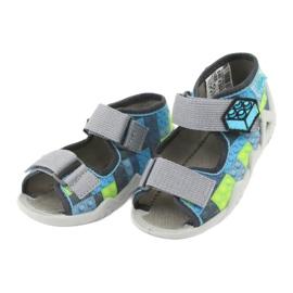 Sandale pentru copii Befado 250P093 albastru gri verde 3