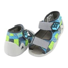 Sandale pentru copii Befado 250P093 albastru gri verde 4