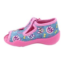 Pantofi pentru copii Befado roz 213P113 albastru multicolor 3