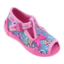 Pantofi pentru copii Befado roz 213P113 albastru multicolor 2