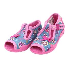Pantofi pentru copii Befado roz 213P113 albastru multicolor 4