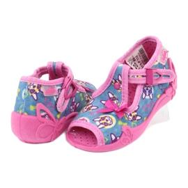 Pantofi pentru copii Befado roz 213P113 albastru 4