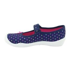 Încălțăminte pentru copii Befado 114Y372 albastru marin roz 4