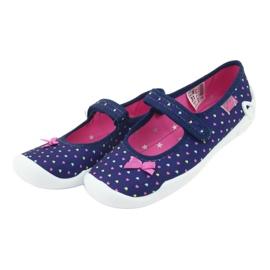 Încălțăminte pentru copii Befado 114Y372 albastru marin roz 5