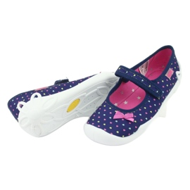 Încălțăminte pentru copii Befado 114Y372 albastru marin roz 7