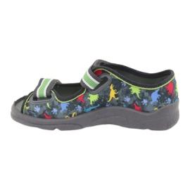 Pantofi pentru copii Befado 969X140 gri multicolor verde 3