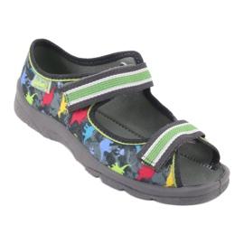 Pantofi pentru copii Befado 969X140 gri multicolor verde 2