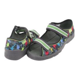 Pantofi pentru copii Befado 969X140 gri multicolor verde 5