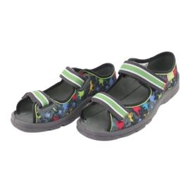 Pantofi pentru copii Befado 969X140 gri multicolor verde 4