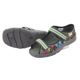 Pantofi pentru copii Befado 969X140 gri multicolor verde 7