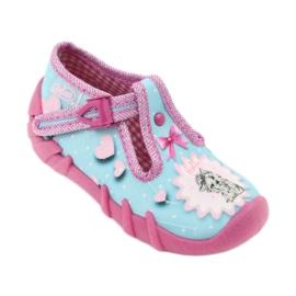 Încălțăminte pentru copii Befado 110P358 albastru roz 2