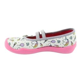 Încălțăminte pentru copii Befado 116X266 roz gri 2