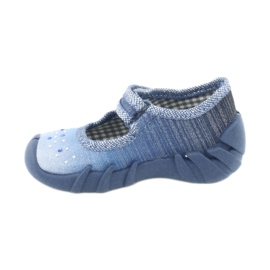 Încălțăminte pentru copii Befado cu zirconi 109P186 albastru gri 2