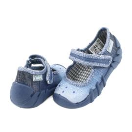 Încălțăminte pentru copii Befado cu zirconi 109P186 albastru gri 4