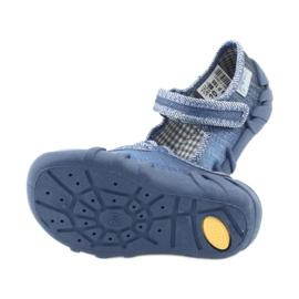 Încălțăminte pentru copii Befado cu zirconi 109P186 albastru gri 5