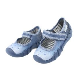 Încălțăminte pentru copii Befado cu zirconi 109P186 albastru gri 3