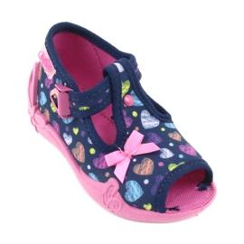 Încălțăminte pentru copii Befado 213P118 albastru marin roz multicolor 2