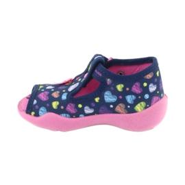 Încălțăminte pentru copii Befado 213P118 albastru marin roz multicolor 3