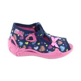 Încălțăminte pentru copii Befado 213P118 albastru marin roz multicolor 1