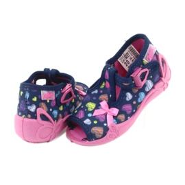 Încălțăminte pentru copii Befado 213P118 albastru marin roz multicolor 5