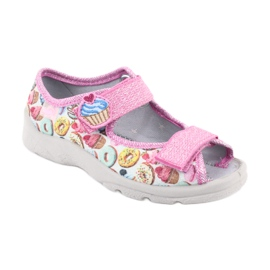 Pantofi pentru copii Befado 969X142 albastru roz gri verde galben 1
