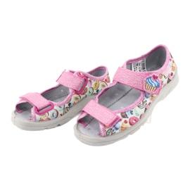 Pantofi pentru copii Befado 969X142 albastru roz gri verde galben 3