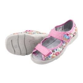 Pantofi pentru copii Befado 969X142 albastru roz gri verde galben 5