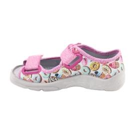 Pantofi pentru copii Befado 969X142 albastru roz gri verde galben 2