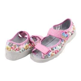 Pantofi pentru copii Befado 969X142 albastru roz gri verde galben 4