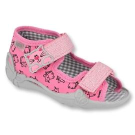 Încălțăminte pentru copii Befado 242P103 roz gri 1