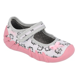 Încălțăminte pentru copii Befado 109P198 roz gri 1
