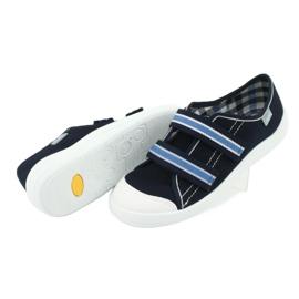 Încălțăminte pentru copii Befado 672Y049 alb albastru marin albastru 5