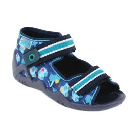 Sandale Befado încălțăminte copii 250P090 alb albastru marin albastru 1