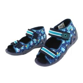 Sandale Befado încălțăminte copii 250P090 alb albastru marin albastru 3
