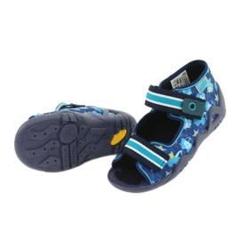 Sandale Befado încălțăminte copii 250P090 alb albastru marin albastru 5